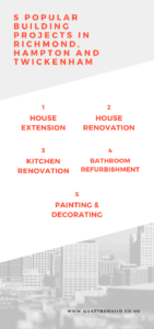 List of 5 common building projects done by hampton and richmond builders